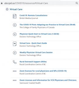 Virtual Care Resrouces